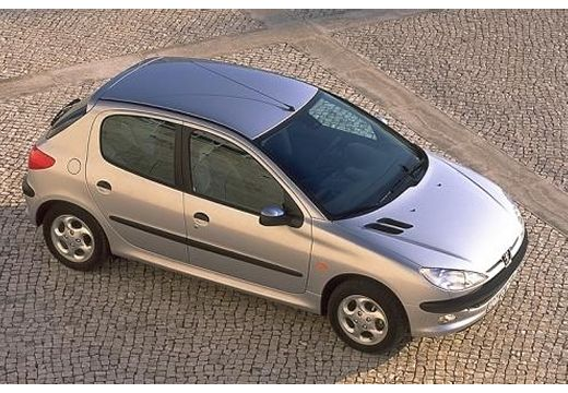 PEUGEOT 206 I hatchback silver grey górny przedni