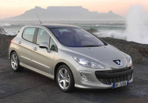 PEUGEOT 308 I hatchback silver grey przedni prawy