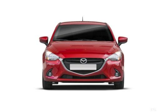 MAZDA 2 hatchback czerwony jasny przedni