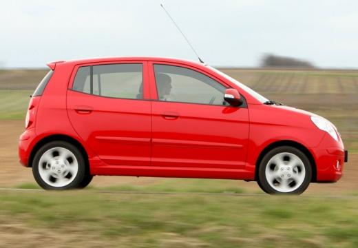 KIA Picanto II hatchback czerwony jasny boczny prawy