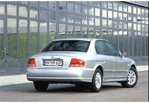 HYUNDAI Sonata sedan silver grey tylny prawy