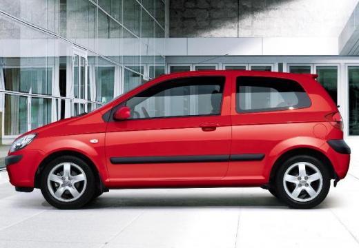 HYUNDAI Getz hatchback czerwony jasny boczny lewy