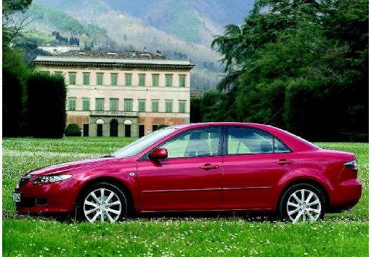 MAZDA 6 II sedan czerwony jasny boczny lewy