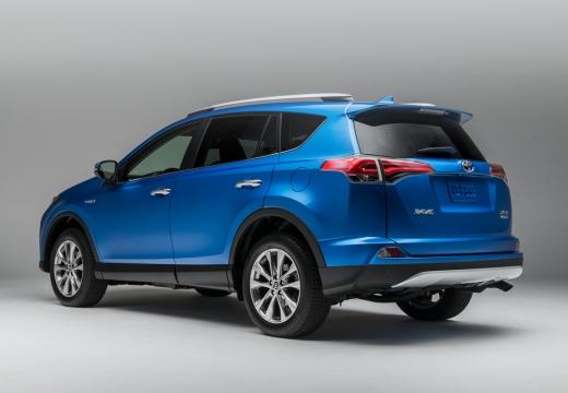 Toyota RAV4 kombi niebieski jasny tylny lewy