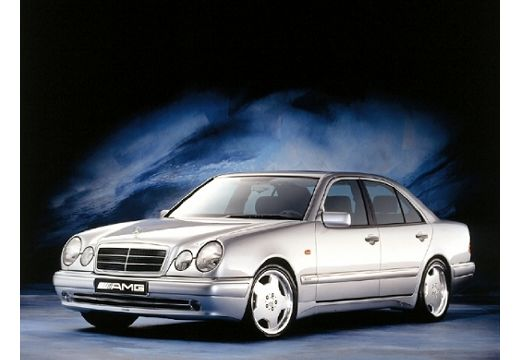 MERCEDES-BENZ Klasa E W 210 I sedan silver grey przedni lewy