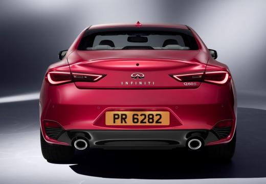 INFINITI Q60 coupe czerwony jasny tylny