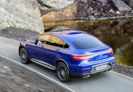 MERCEDES-BENZ Klasa GLC hatchback niebieski jasny tylny lewy