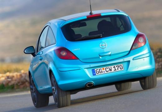 OPEL Corsa D II hatchback niebieski jasny tylny lewy