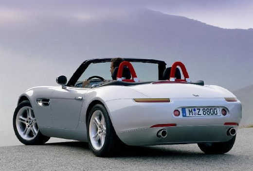 BMW Z8 roadster silver grey задний левый