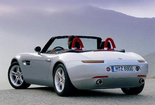 BMW Z8 roadster silver grey tylny lewy