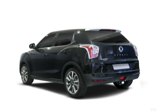 SSANG YONG Tivoli hatchback czarny tylny lewy