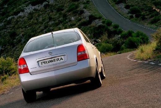 NISSAN Primera IV sedan silver grey tylny