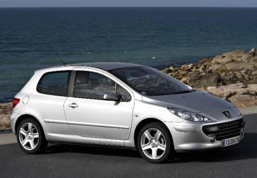 PEUGEOT 307 II hatchback silver grey przedni prawy