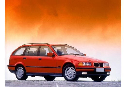 BMW Seria 3 kombi czerwony jasny przedni prawy