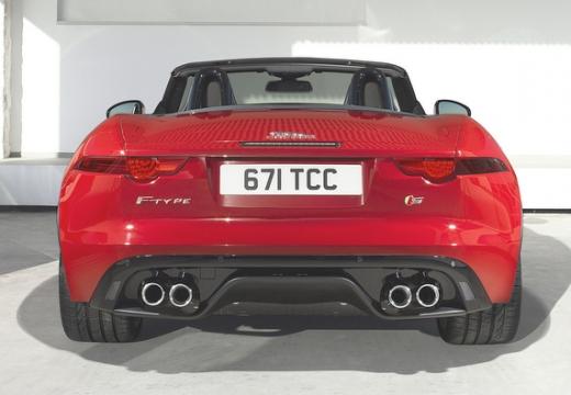 JAGUAR F-Type kabriolet czerwony jasny tylny