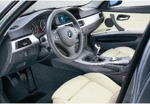 BMW Seria 3 E90 I sedan szary ciemny tablica rozdzielcza