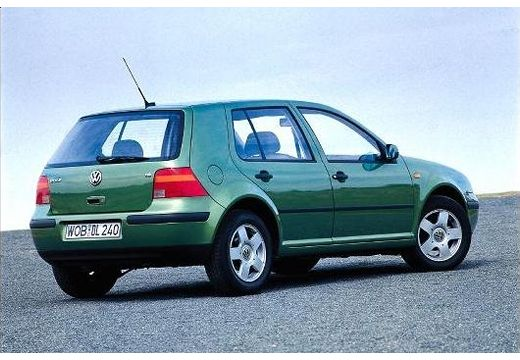VOLKSWAGEN Golf IV hatchback zielony tylny prawy