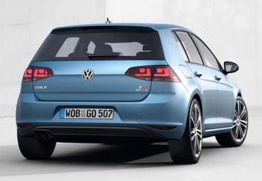 VOLKSWAGEN Golf VII I hatchback niebieski jasny tylny prawy