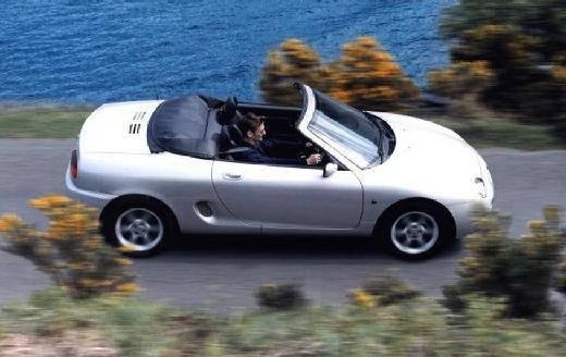 MG F roadster silver grey boczny prawy