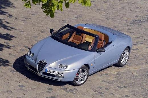 ALFA ROMEO Spider kabriolet silver grey przedni lewy