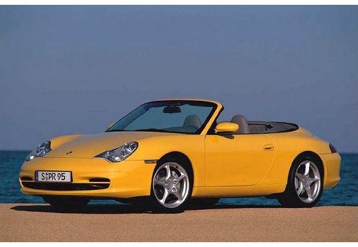 PORSCHE 911 kabriolet żółty przedni lewy