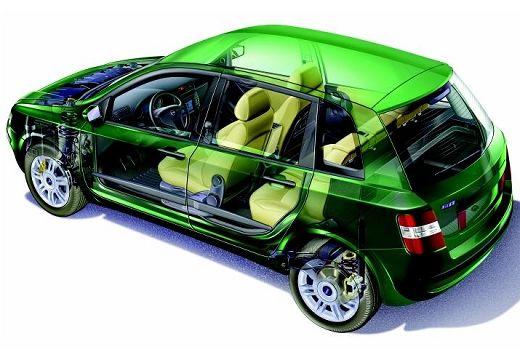 FIAT Stilo I hatchback zielony prześwietlenie