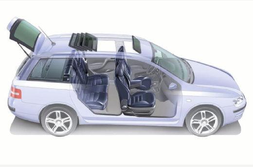 FIAT Stilo Multiwagon II kombi prześwietlenie