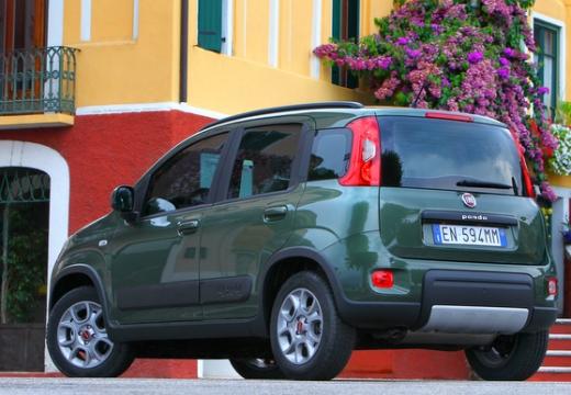 FIAT Panda III hatchback zielony tylny lewy