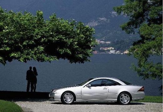 MERCEDES-BENZ Klasa CL coupe silver grey boczny lewy