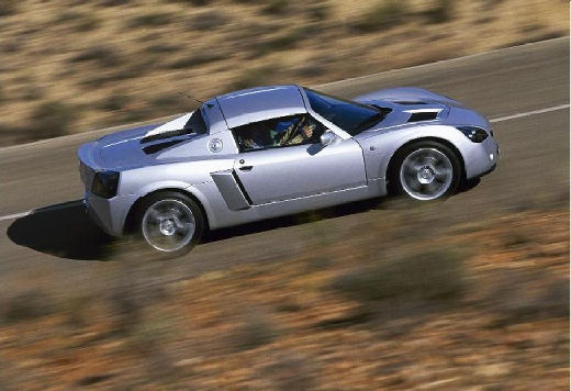 OPEL Speedster roadster silver grey boczny prawy