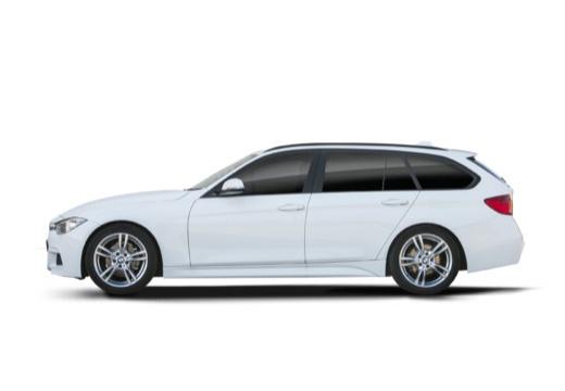 BMW Seria 3 Touring F31 I kombi biały boczny lewy
