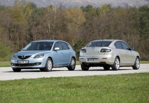 MAZDA 3 II sedan silver grey