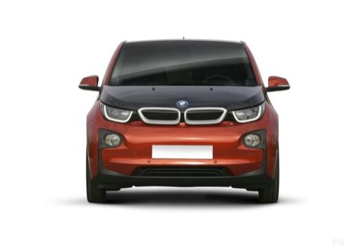 BMW i3 hatchback pomarańczowy przedni