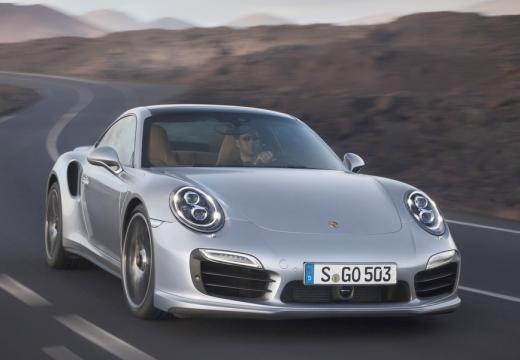 PORSCHE 911 991 I coupe silver grey przedni prawy