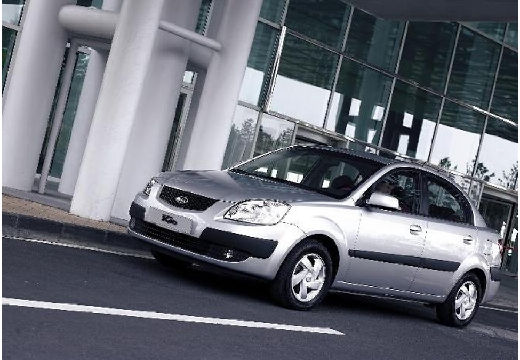 KIA Rio III sedan silver grey przedni lewy