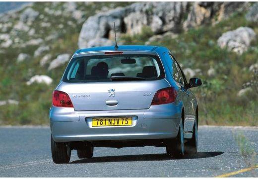 PEUGEOT 307 I hatchback silver grey tylny prawy