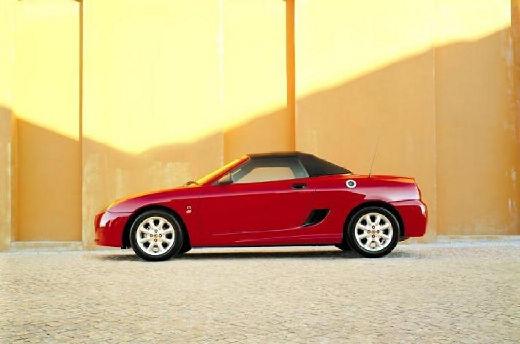 MG TF roadster czerwony jasny boczny lewy