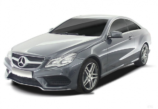 MERCEDES-BENZ Klasa E C 207 II coupe silver grey