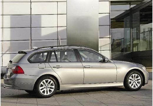 BMW Seria 3 Touring E91 I kombi silver grey tylny prawy