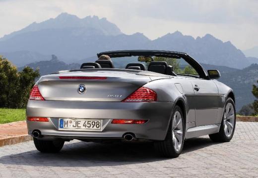 BMW Seria 6 kabriolet silver grey tylny prawy