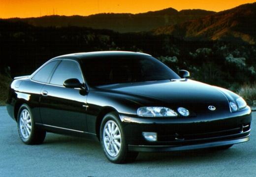 LEXUS SC coupe czarny przedni prawy