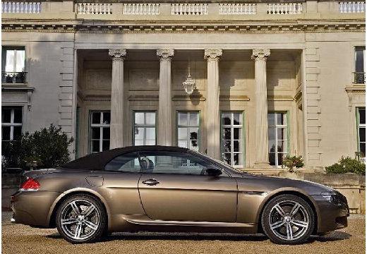 BMW Seria 6 Cabriolet E64 I kabriolet szary ciemny boczny prawy