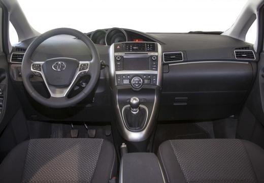 Toyota Verso II kombi mpv szary ciemny tablica rozdzielcza