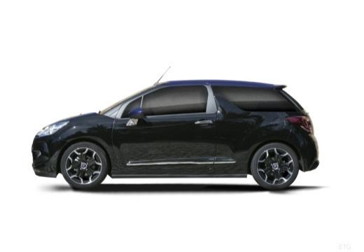 CITROEN DS3 Cabrio kabriolet czarny boczny lewy