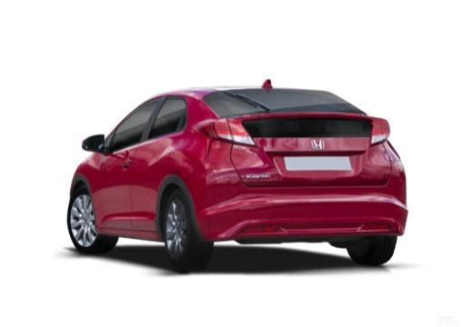 HONDA Civic VIII hatchback czerwony jasny tylny lewy
