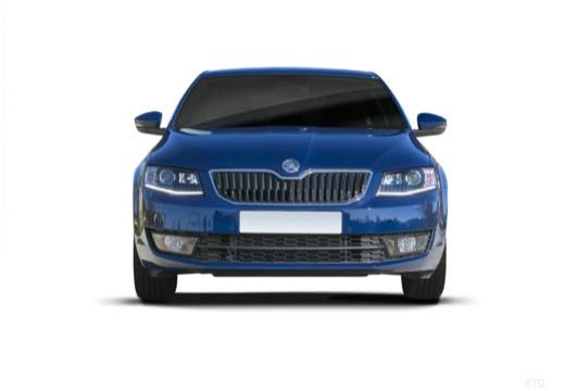 SKODA Octavia III I hatchback niebieski jasny przedni