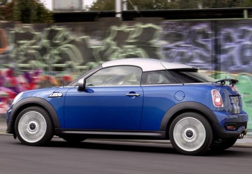 MINI [BMW] coupe niebieski jasny tylny lewy