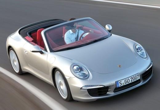 PORSCHE 911 kabriolet silver grey przedni prawy