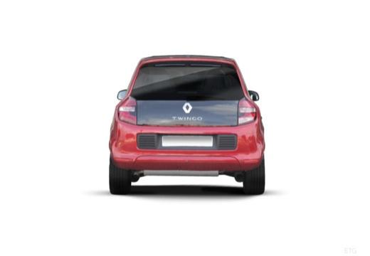RENAULT Twingo hatchback czerwony jasny tylny