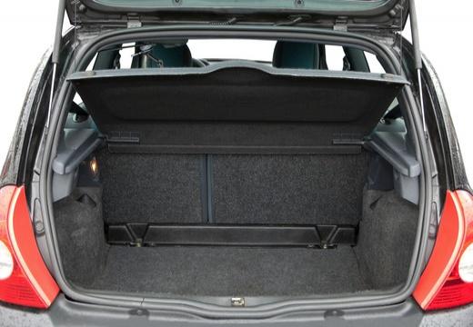 RENAULT Clio II II hatchback przestrzeń załadunkowa
